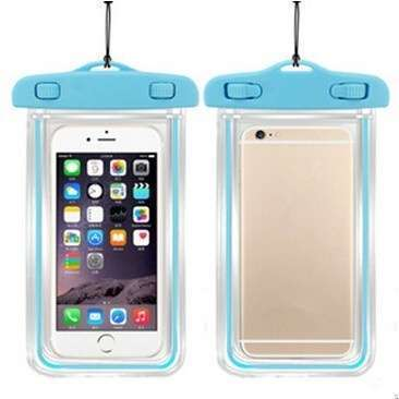 Transparent PVC Luminous Waterproof Phone Case Cover for iphone 3 4 4s 5 5s 5C 6 Water Proof Underwater Bag for Phone6 All mobile Phone-7