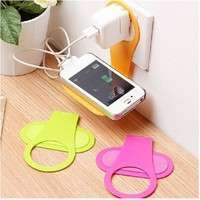 Plaq-Convenient Mobile Foldable Designed Cell Phone Holder Wall Charger Hanger Charging Rack Shelf Send In Random Color