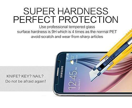Ultra Thin Slim 9H Anti-fingerprint with Oleophobic Premium Tempered Glass Screen Hard Protector Film for Samsung Galaxy S6-3