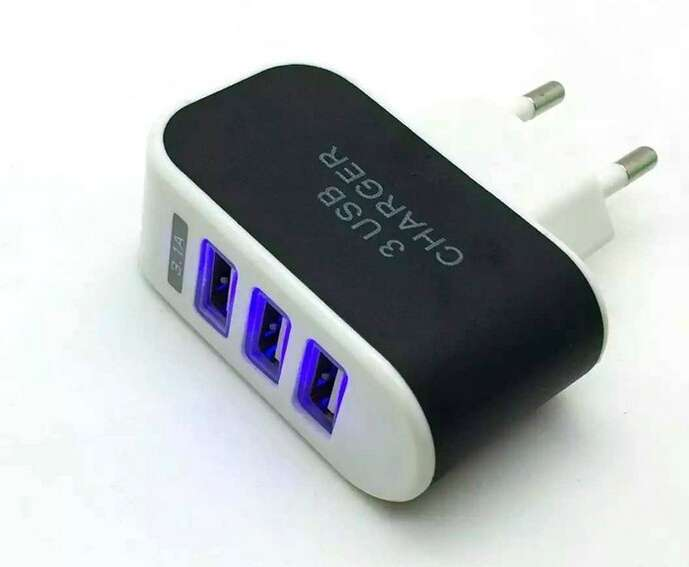 3.1A Triple USB Port Wall Home Travel AC Charger Adapter For Samsung EU Plug-1