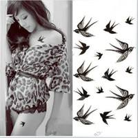 S5LO-Swallow Bird New Design Temporary Tattoo Removable Waterproof Stickers