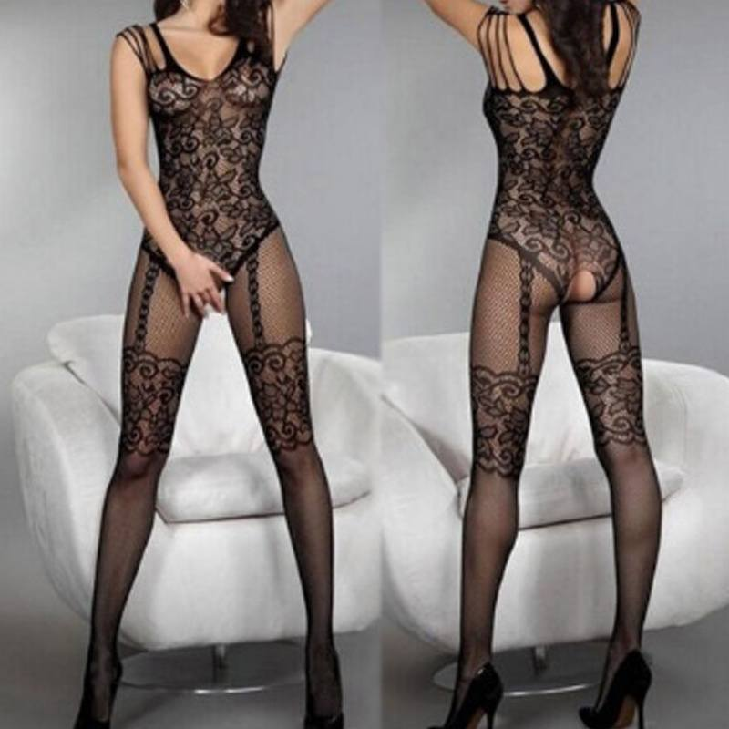 Sexy Body Stocking Bedroom Lace Black Women Fishnet Lingerie Sexy Naughty
