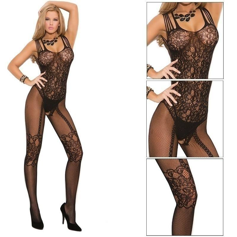 Sexy Body Stocking Bedroom Lace Black Women Fishnet Lingerie Sexy Naughty-2