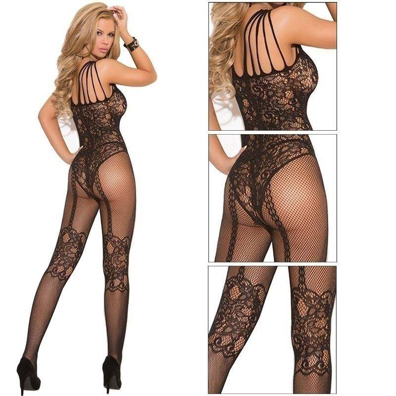 Sexy Body Stocking Bedroom Lace Black Women Fishnet Lingerie Sexy Naughty-3