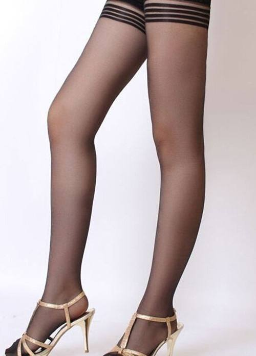Women Black Sexy Thigh High Stockings Tights Hold Ups Stay Up Lace Pantyhose-3