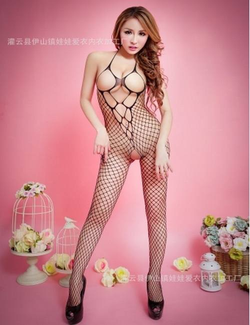 Strapless Sex Fishnet Body Stocking Female Erotic Body Suit Costumes Sexy Lingerie women underwear-1