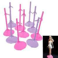 T66p-Dolls Toy Stand Support For Barbie Girls Prop Up Mannequin Model Display Holder Purple Pink Blue Color