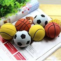 T6f3-Pet Cat Dog Chew Training Toy Rubber Elastic Basketball Soft Bouncy Ball Puppy Play Safety