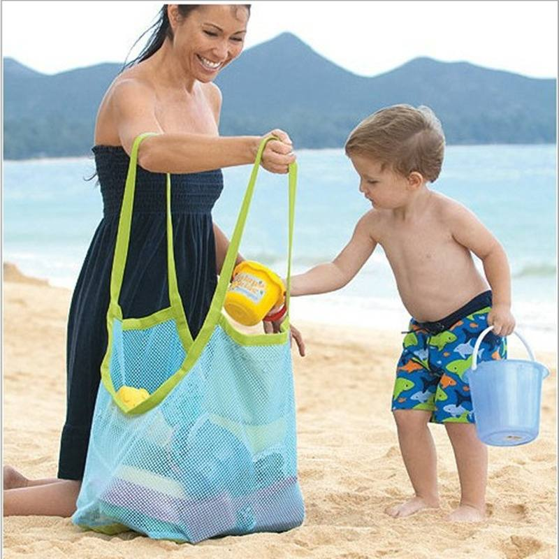 Baby Children Beach Mesh Bag Children Beach Toys Clothes Towel Bag Baby Toy Collection