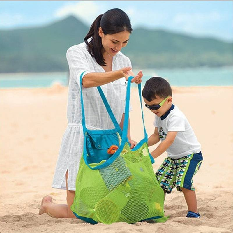 Baby Children Beach Mesh Bag Children Beach Toys Clothes Towel Bag Baby Toy Collection-1