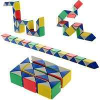 TBPW-Magic Snake Shape Toy Game 3D Cube Puzzle Twist Puzzle IQ Toy Gift