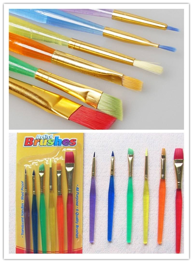 Hot Sell 6pcs Color Brushes Children Painting Set Baking Tool-1