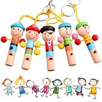 TEI7-Baby Kids Wooden Toy Mini Whistle Pirates Developmental Toy Musical Toys