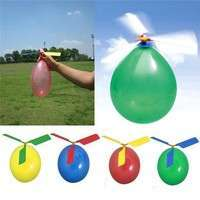 TEe6-Traditional Classic Balloon Helicopter Kids Child Children Play Flying Toy