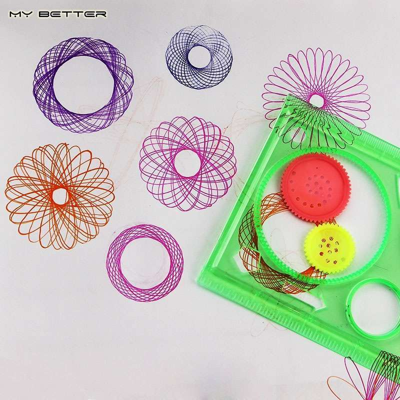 Spirograph Geometric Ruler Drafting Tools Stationery Students Drawing Set Learning Art