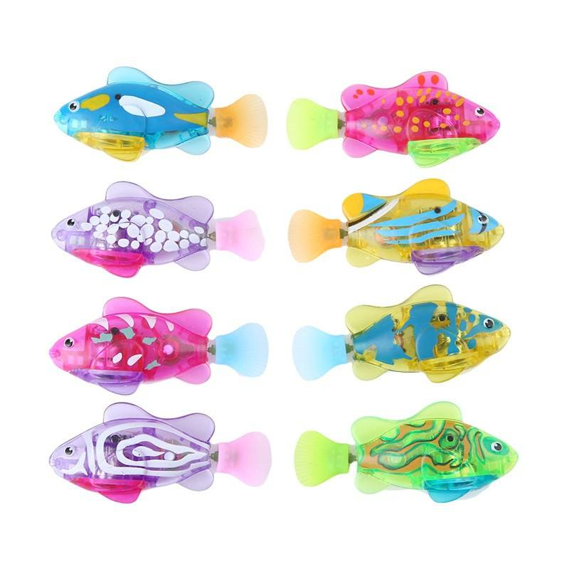 Baby Toys Baby Kids Activated Battery Powered Robot Fish Toy Gifts