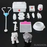 TPE5-14Pcs Mini Medical Equipment Toys For Barbie Fashion Doll Accessories Set