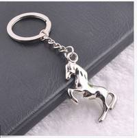 TZ1G-Fashion New Bag 3D Pendant Key Chain Creative Steed Horse Key Ring Key Chain
