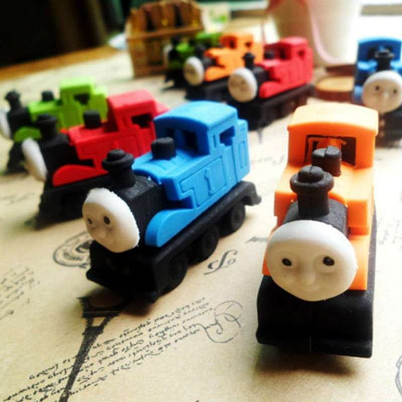 Cute Thomas Small Train Rubber Eraser Lovely Cartoon Erasers Kids Students School Supplies