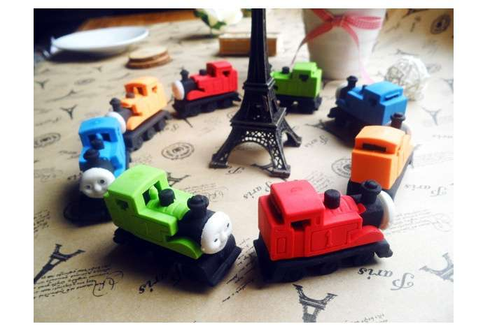 Cute Thomas Small Train Rubber Eraser Lovely Cartoon Erasers Kids Students School Supplies-1