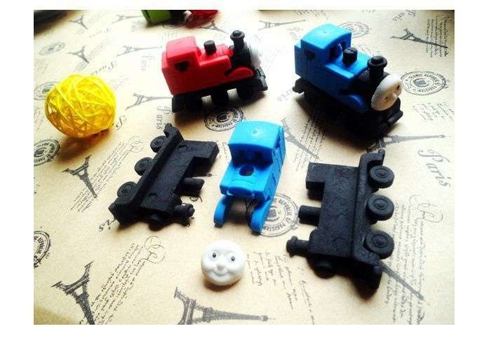 Cute Thomas Small Train Rubber Eraser Lovely Cartoon Erasers Kids Students School Supplies-2