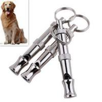 TlFo-Ultrasonic Discipline Puppy Dog Whistle Key Chain Pet Dog Training Adjustable Sound