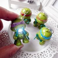 TnJg-LED Lighting Teenage Mutant Ninja Turtles Action Figure Toys With Sound Keychain