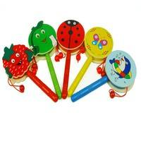 TqY1-Toddler Toys Baby Wooden Rattles Toys Infant Musical Toy Rattles For Boys Girls Preschool
