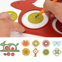 TwE9-1 Set Creative Drawing Ruler Geometric Sketchpad Kids Gift Board Educational Toy Nobetter