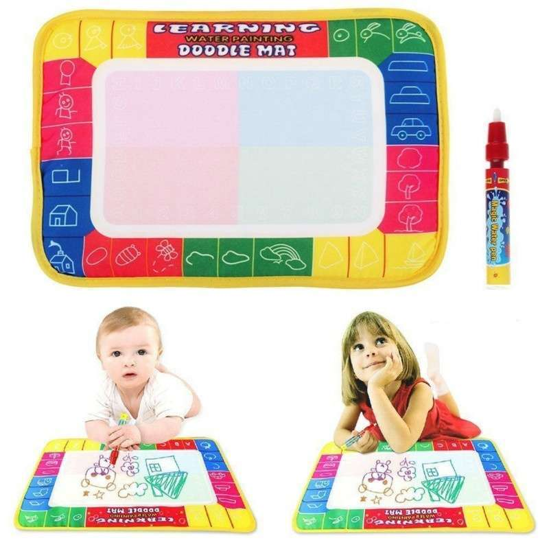 Girl Toy Drawing Water Pen Painting Magic Doodle Aquadoodle Mat Board Kid Boy