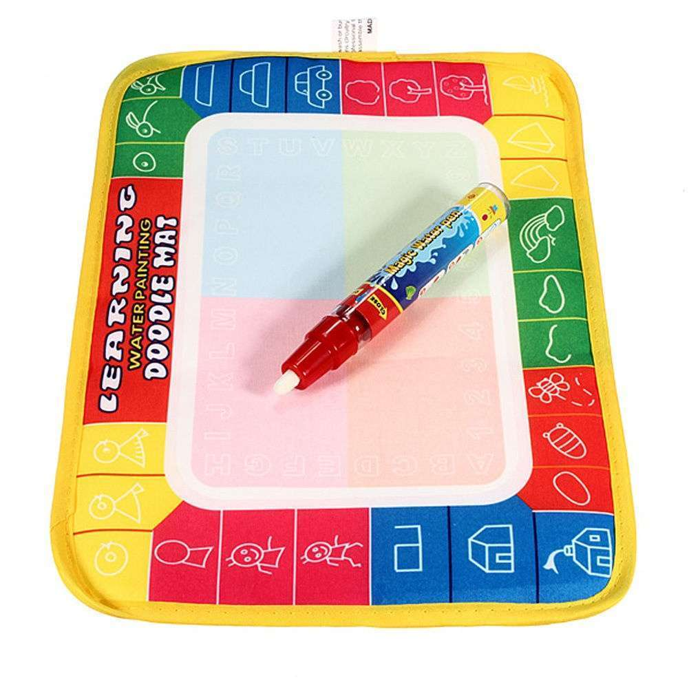 Girl Toy Drawing Water Pen Painting Magic Doodle Aquadoodle Mat Board Kid Boy-3