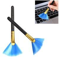 U89D-Mini Desktop Computer Telephone Keyboard Slit Corner Cleaning Broom Brush Tool
