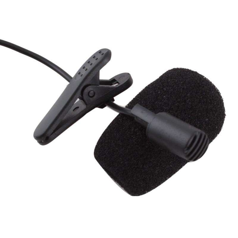 3.5mm Mini Studio Speech Mic Microphone w/ Clip for PC Desktop Notebook-1