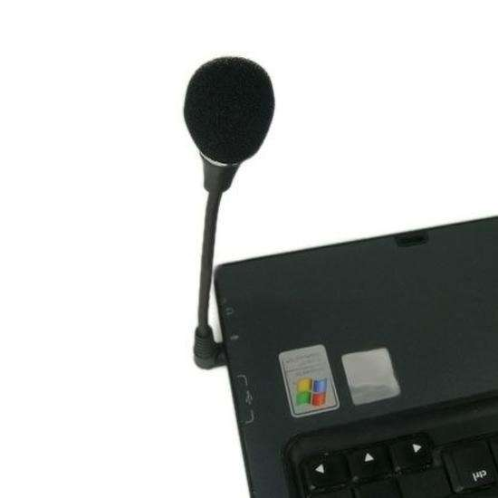Mini Flexible Microphone Mic 3.5mm Plug for PC Laptop Notebook-1
