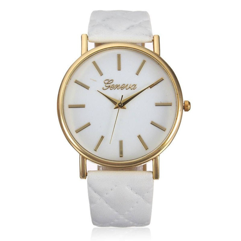 Fashion Women Casual Geneva Roman Leather Band Analog Quartz Wrist Watch-1