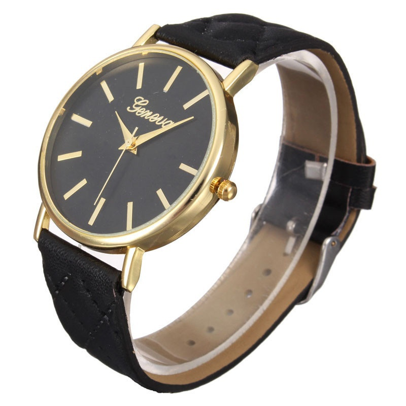 Fashion Women Casual Geneva Roman Leather Band Analog Quartz Wrist Watch-10