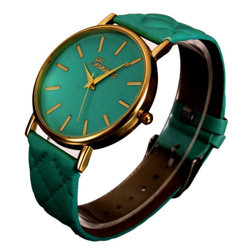 Fashion Women Casual Geneva Roman Leather Band Analog Quartz Wrist Watch-11