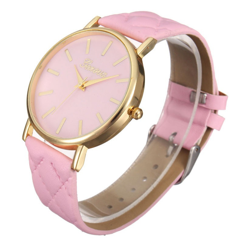 Fashion Women Casual Geneva Roman Leather Band Analog Quartz Wrist Watch-3