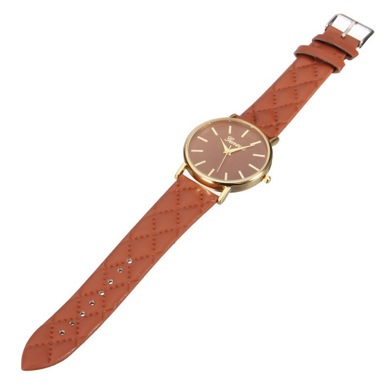 Fashion Women Casual Geneva Roman Leather Band Analog Quartz Wrist Watch-5
