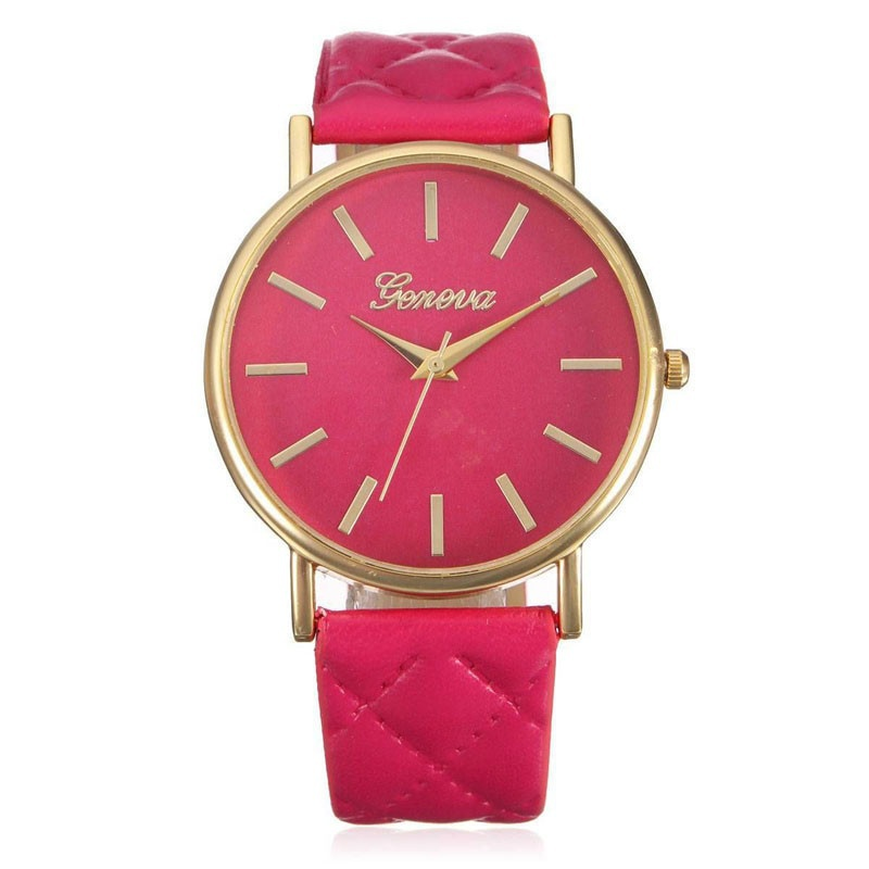 Fashion Women Casual Geneva Roman Leather Band Analog Quartz Wrist Watch-6