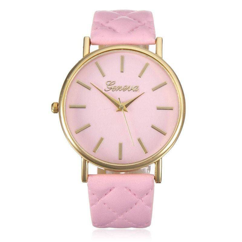Fashion Women Casual Geneva Roman Leather Band Analog Quartz Wrist Watch-7