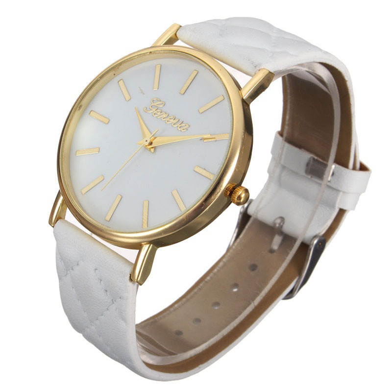 Fashion Women Casual Geneva Roman Leather Band Analog Quartz Wrist Watch-8