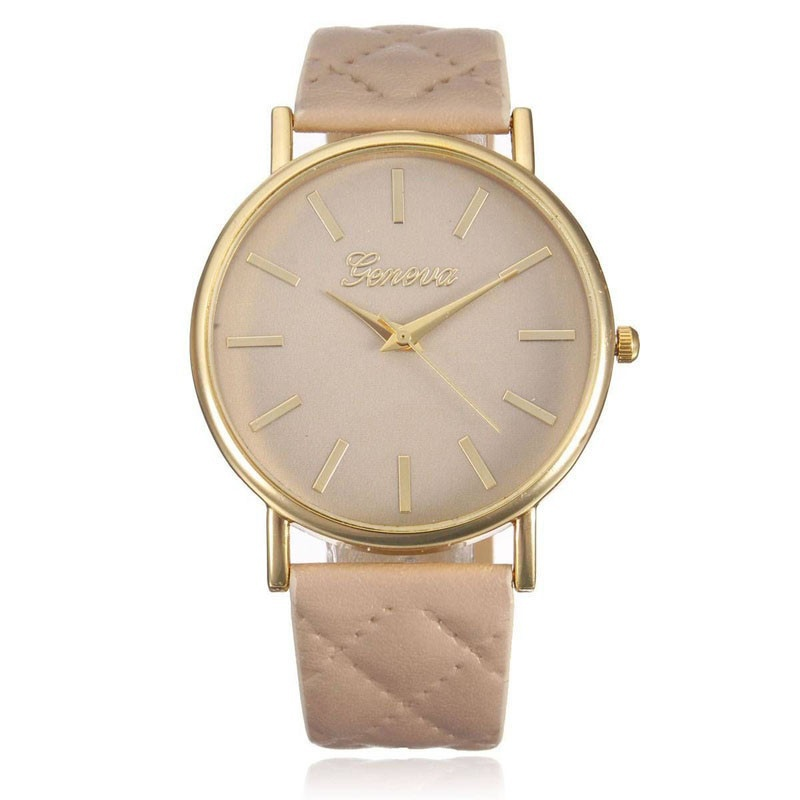 Fashion Women Casual Geneva Roman Leather Band Analog Quartz Wrist Watch-9