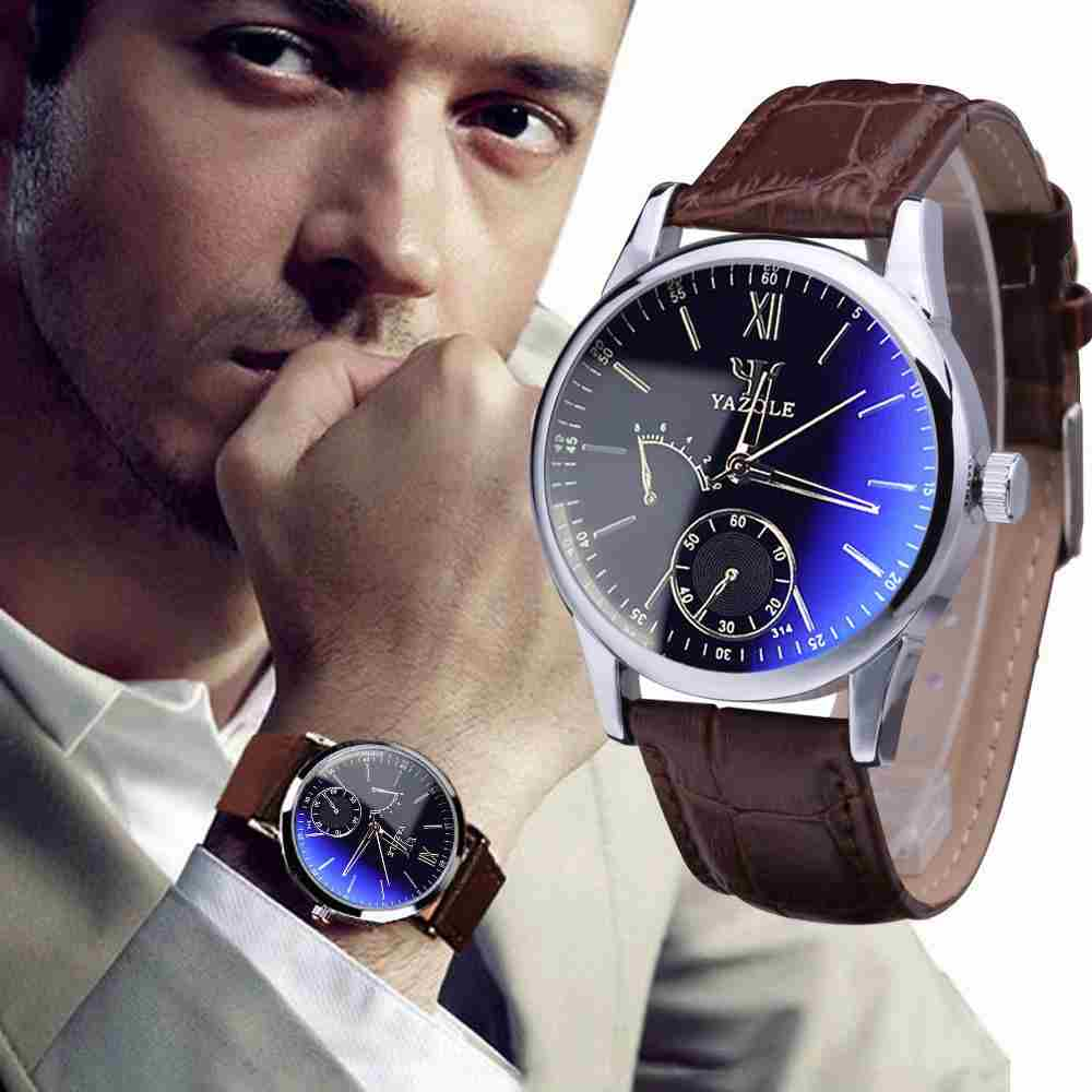 Luxury Fashion Faux Leather Mens Quartz Analog Watch Watches At a loss!!!-10