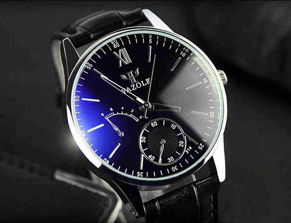 Luxury Fashion Faux Leather Mens Quartz Analog Watch Watches At a loss!!!-12