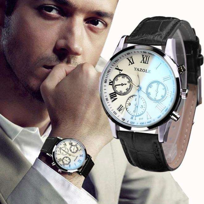 Luxury Fashion Faux Leather Mens Quartz Analog Watch Watches At a loss!!!-13