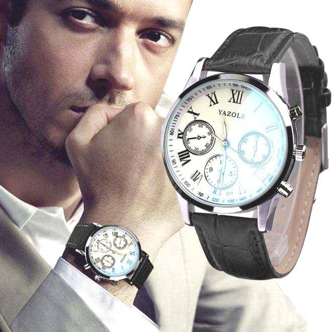 Luxury Fashion Faux Leather Mens Quartz Analog Watch Watches At a loss!!!-15