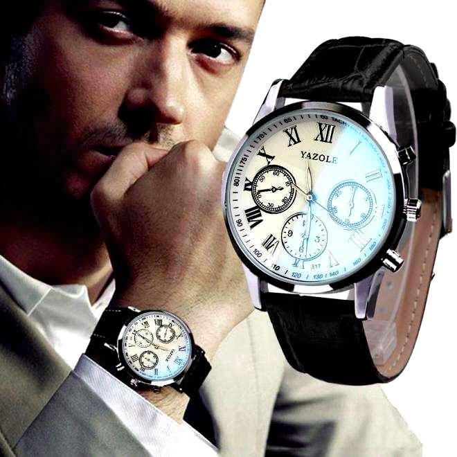 Luxury Fashion Faux Leather Mens Quartz Analog Watch Watches At a loss!!!-20