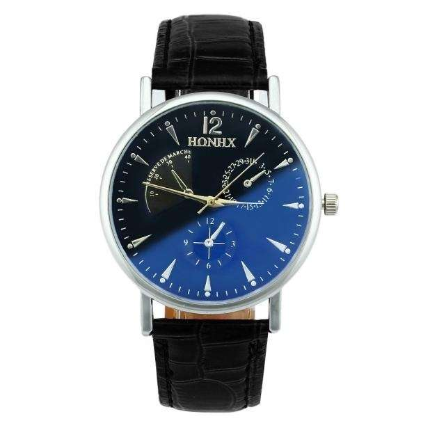 Luxury Fashion Faux Leather Mens Quartz Analog Watch Watches At a loss!!!-4