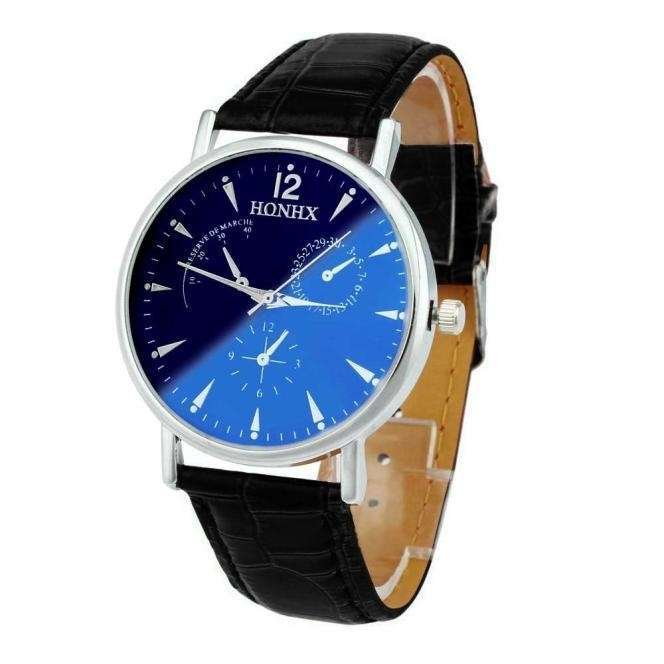 Luxury Fashion Faux Leather Mens Quartz Analog Watch Watches At a loss!!!-6